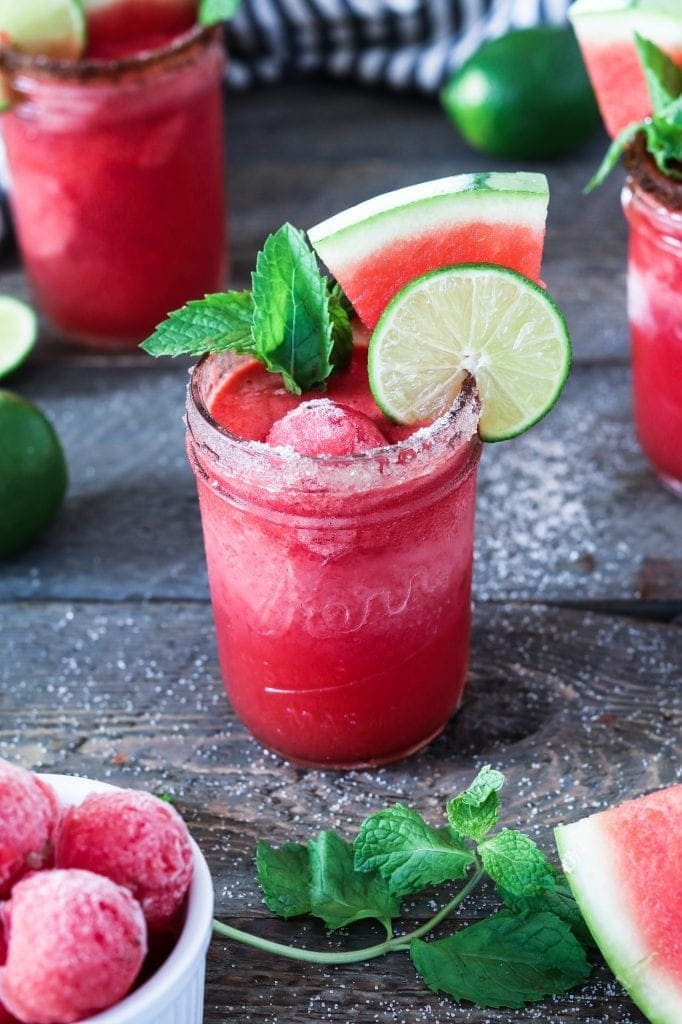 Delicious Margaritas to Make This Summer - Frozen watermelon margarita recipe