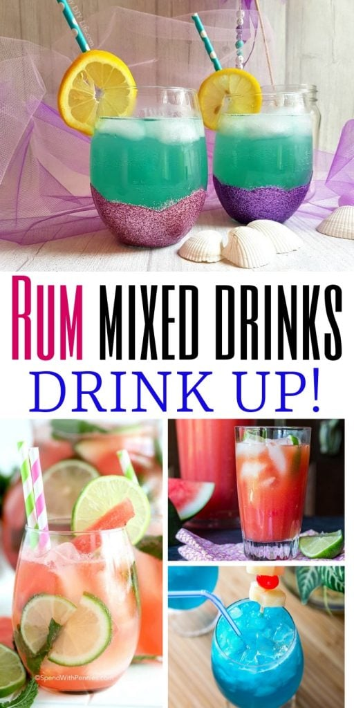 14 Must Make Rum Cocktails | The Best Rum Cocktails | Rum Cocktail Recipes | Easy Rum Cocktails | Rum Cocktails for a Crowd | #rum #rumcocktails #cocktails #summerdrinks #beachideas #girlstrip