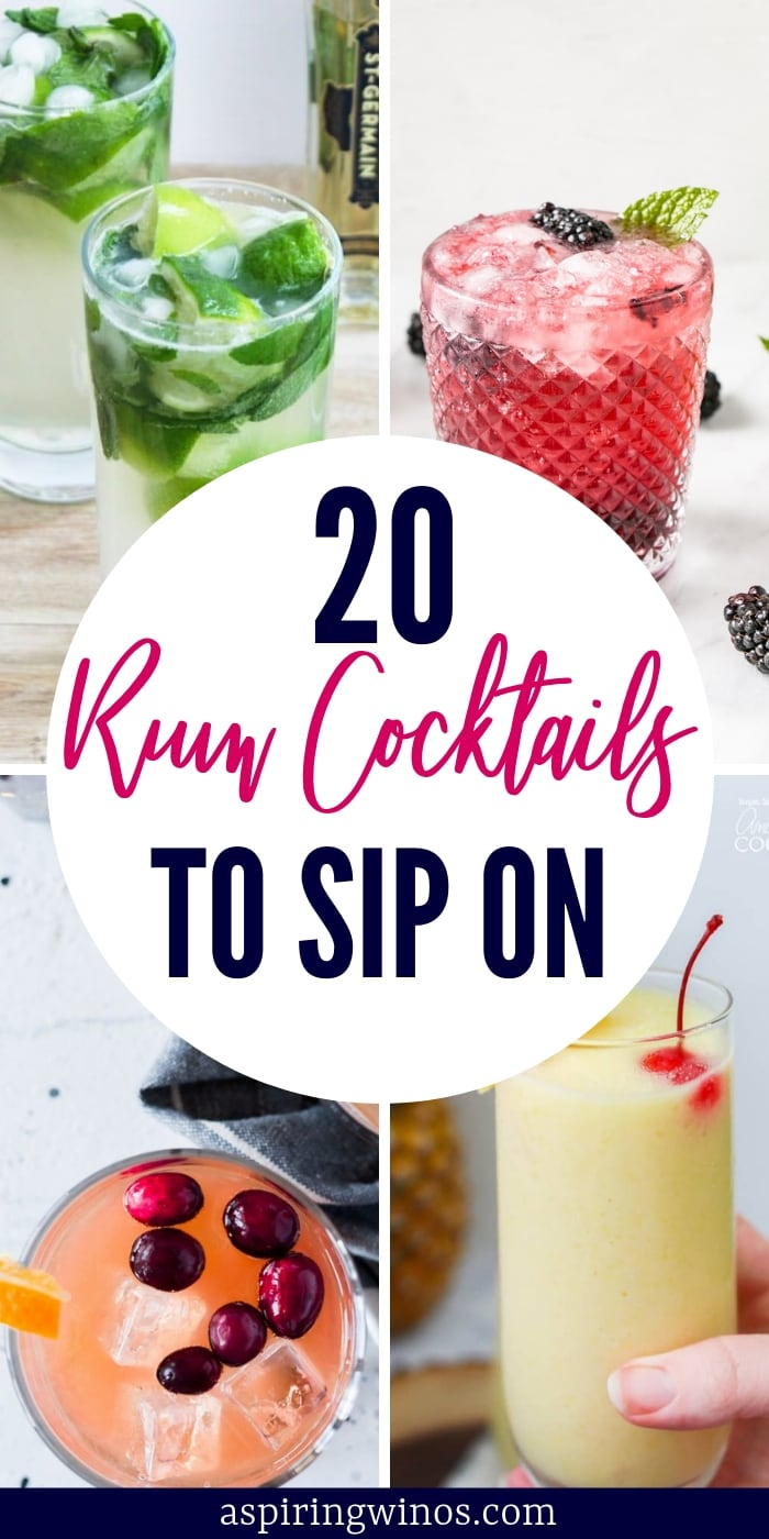 Ready to wow your guests with some rum cocktails? These rum cocktail ideas will give you lots of inspiration to host the perfect backyard BBQ, grill out or party. The colors are amazing and the flavors will wow you. #bbq #rum #cocktail #mixeddrinks