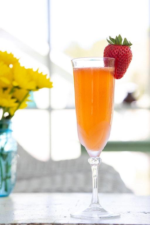 Strawberry Ginger Bellini