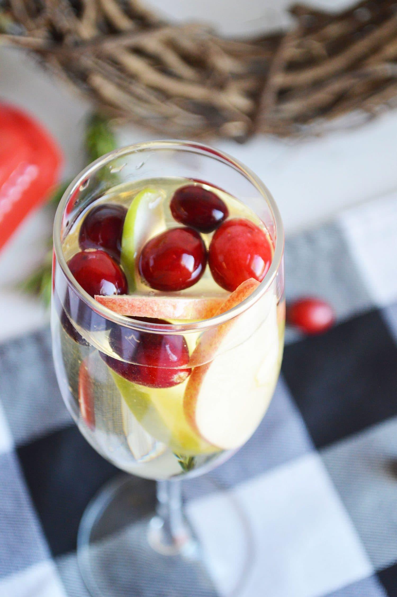 recipe for white winter sangria