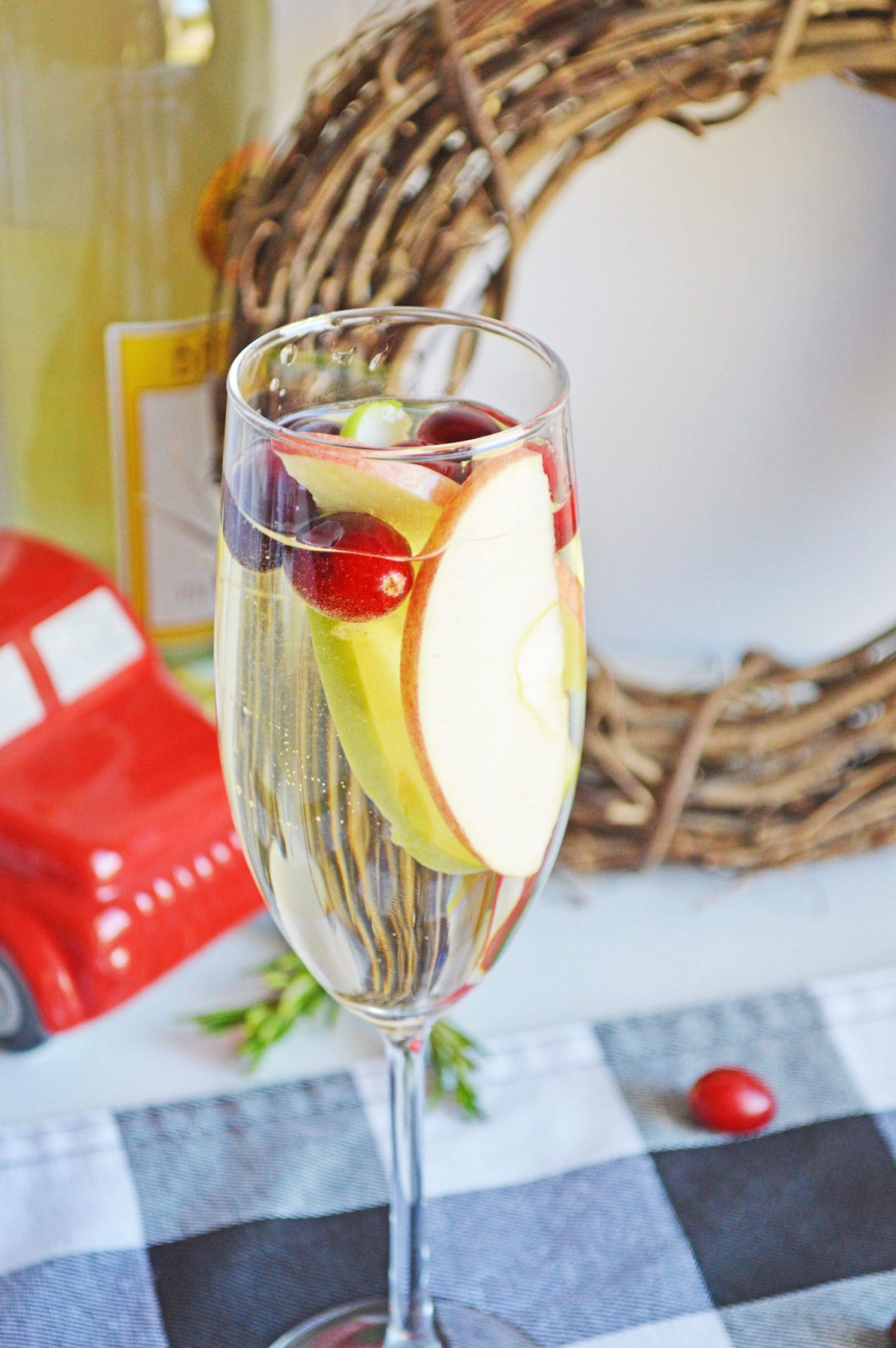 festive holiday cocktail
