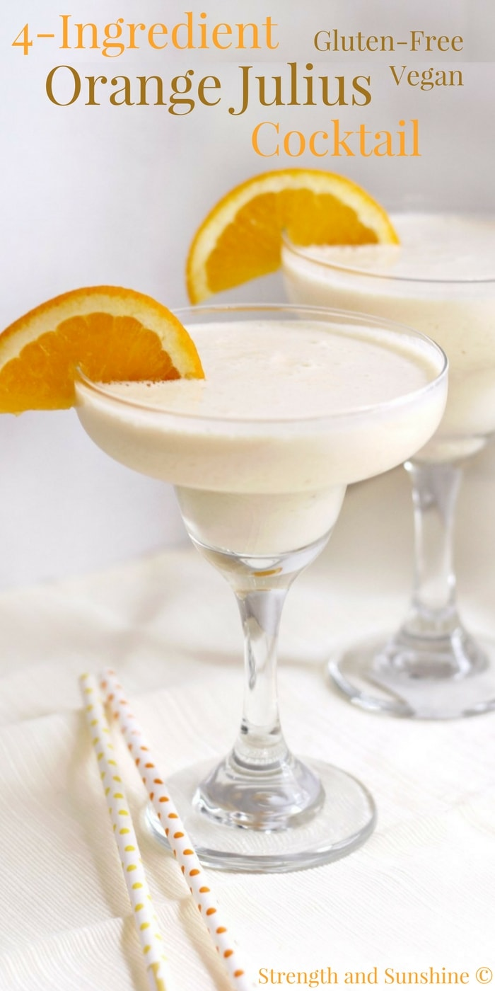 4-Ingredient Orange Julius Cocktail (Gluten-Free, Vegan)
