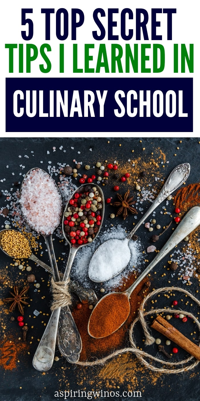 Check out these 5 secret cooking tips I learned in culinary school, that you can even do at home and they will make you a better cook for life! | #tips #hacks Easy cooking lessons that will make me a better cook. | Professional cook tips for a beginner chef. #cooking #recipes