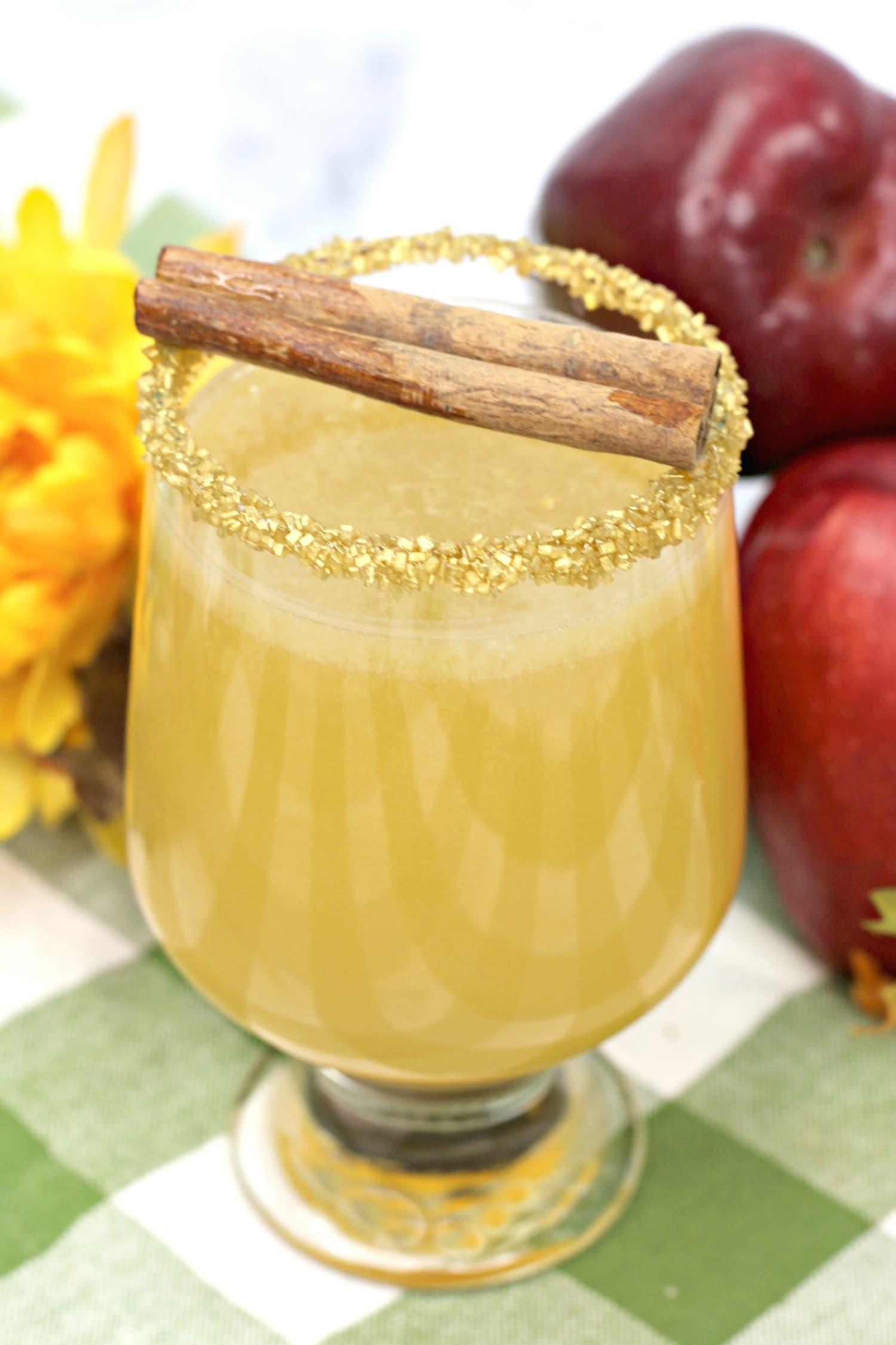 apple cider maple fizz