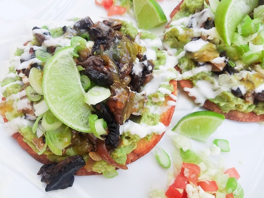 Mushroom Dishes to Pair with Pinot Noir - avocado and chipotle tostadas