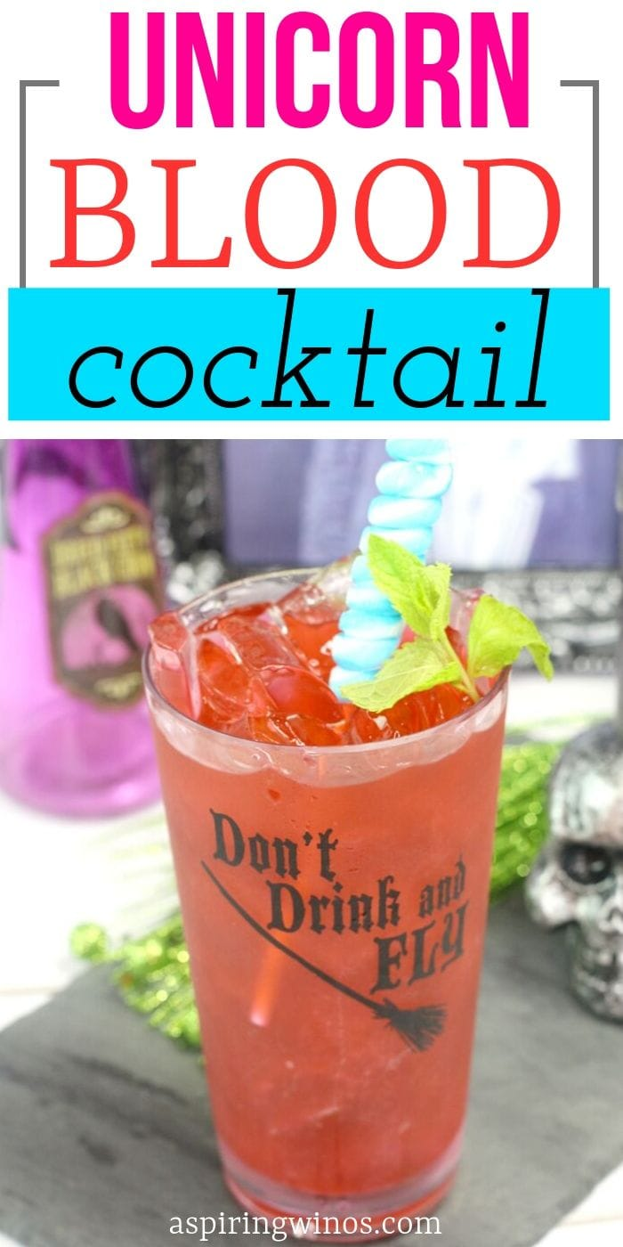 Unicorn Blood Cocktail Party Drink | Mixed Drink for a Party | Tequila Cocktails | Sweet Alcoholic Beverages | Cocktails that are Sweet | Cocktails that Will Mess You Up | #partydrink #cocktail #tequila #party
