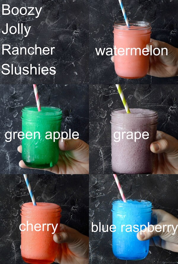 Boozy Jolly Rancher Slushies