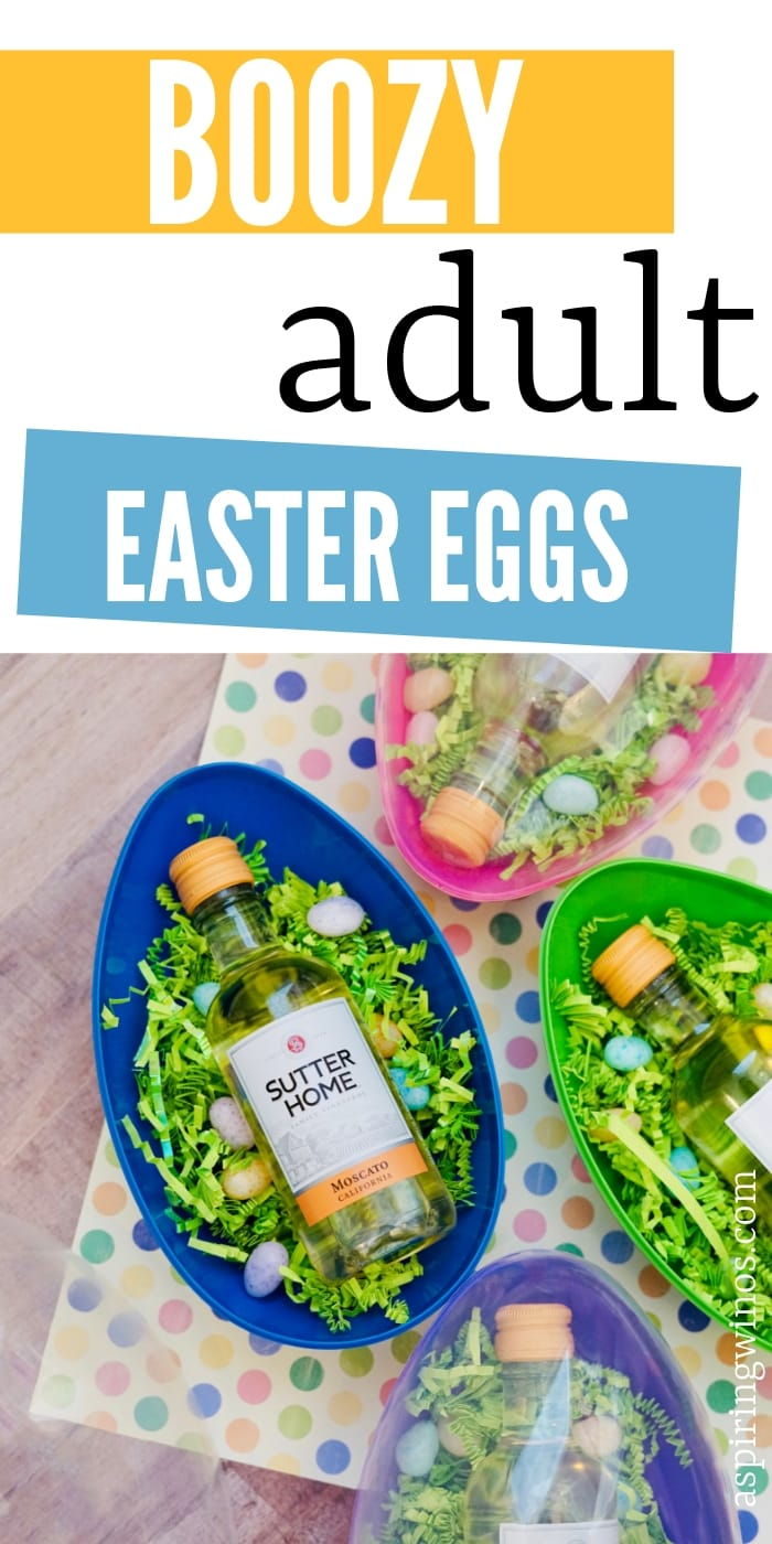 Adult Easter Eggs | A Fun Gift for Family and Friends. Use these when you plan your next adult #Easter egg hunt. They're the perfect gift for wine lovers and you will make all the parents on the block smile if you hide some of these! #easteregg #wine #adults