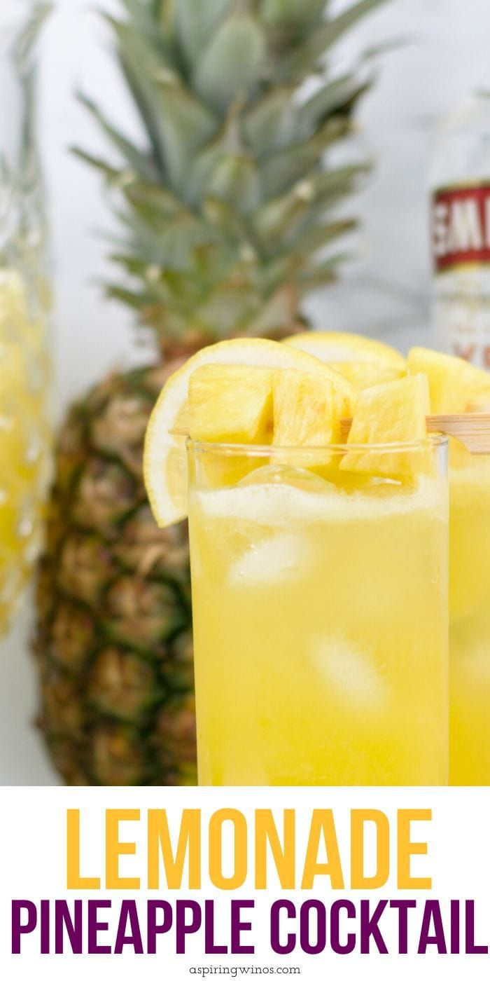 Boozy Pineapple Lemonade | Summer Cocktails | Best Spiked Lemonade Recipe | Spiked Lemonade and Pineapple | Lemon and Pineapple Cocktail Pineapple Lemonade Cocktail Recipe | Pineapple Lemonade Recipe | #spikedlemonade #cocktail #boozylemonade