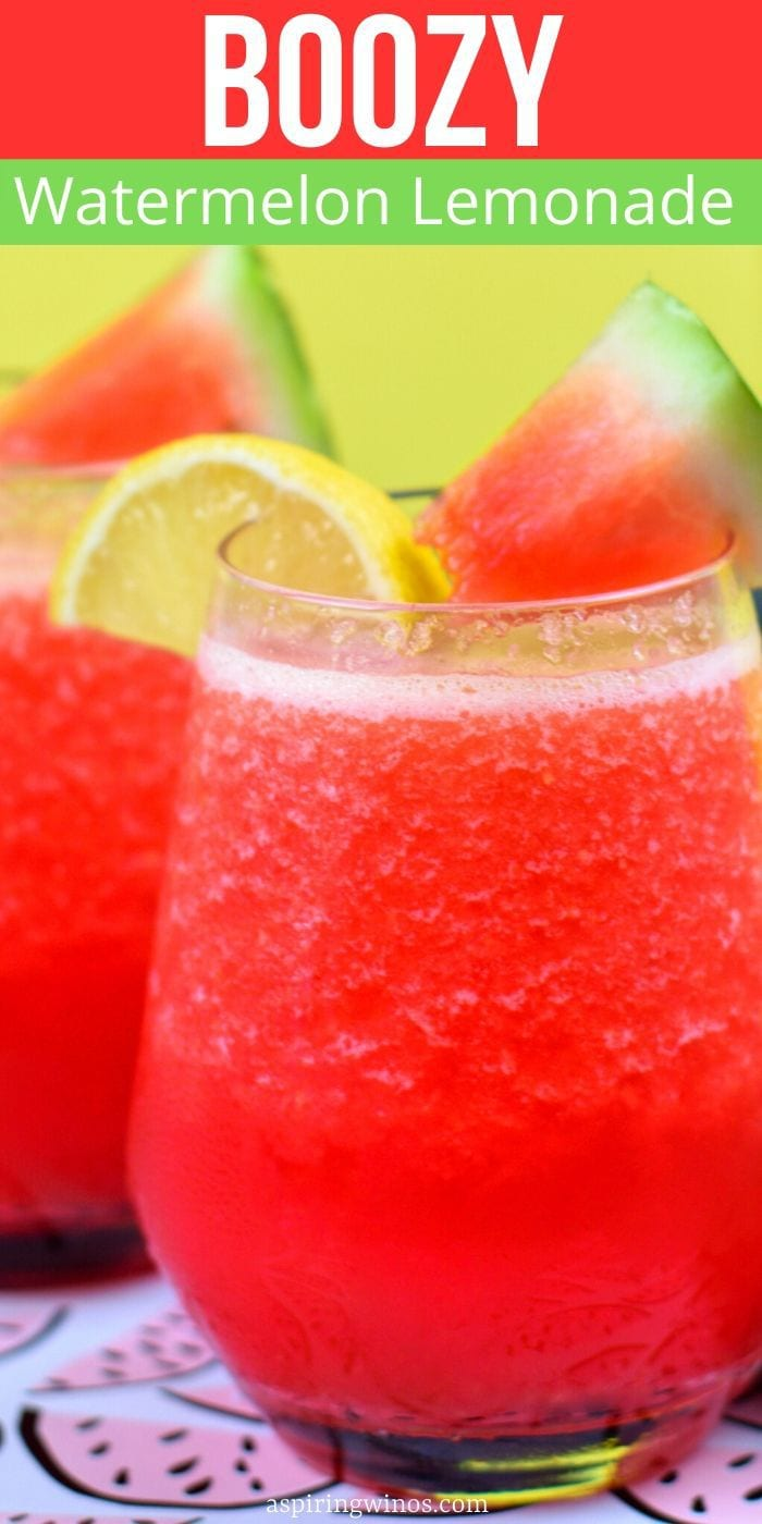 Boozy Watermelon Lemonade | Watermelon Coclktail | Spiked Lemonade | Spiked Lemonade for a Crowd | Summer Cocktails for a Crowd | Best Watermelon Lemonade | #summercocktail #spikedlemonade #cocktail