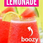 Boozy Watermelon Lemonade | Watermelon Coclktail | Spiked Lemonade | Spiked Lemonade for a Crowd | Summer Cocktails for a Crowd | Best Watermelon Lemonade | #summercocktail #spikedlemonade #cocktail