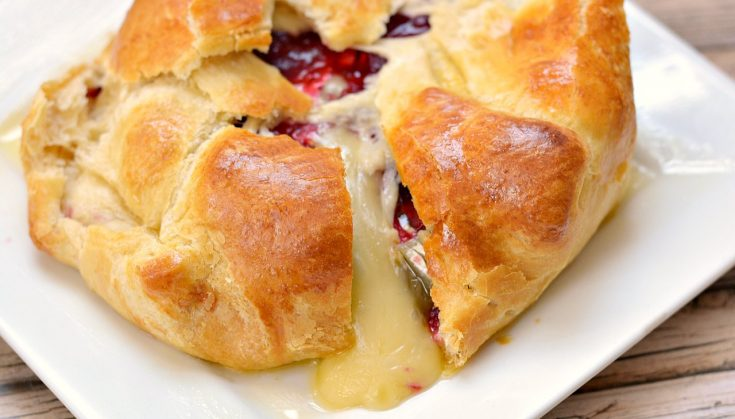 Cranberry Brie Baked Cheese Appetizer