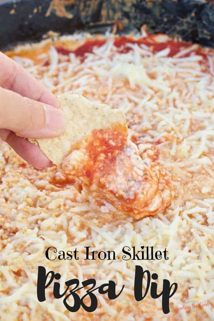Cast Iron Grilled Pizza Dip
