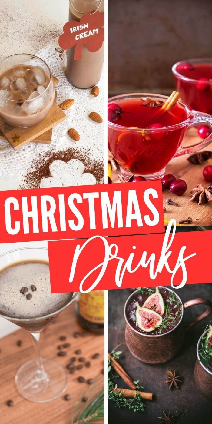 Boozy Christmas Drinks for your Christmas party or for hosting Christmas dinner this year. Get your familya nd friends together and whip up some of these delicious beverages to share, or make it possible to tolerate the holidays | Christmas Cocktails | Perfect Cocktails for Christmas | Holiday Drinks | Spiked Christmas Drinks #xmas #christmas #cocktails #recipes #christmasdrinks
