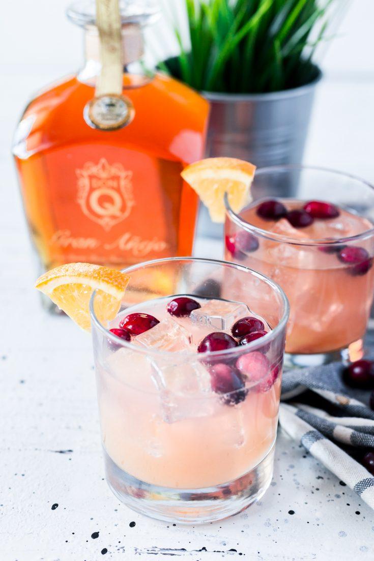 Cranberry Orange Rum Spritzer