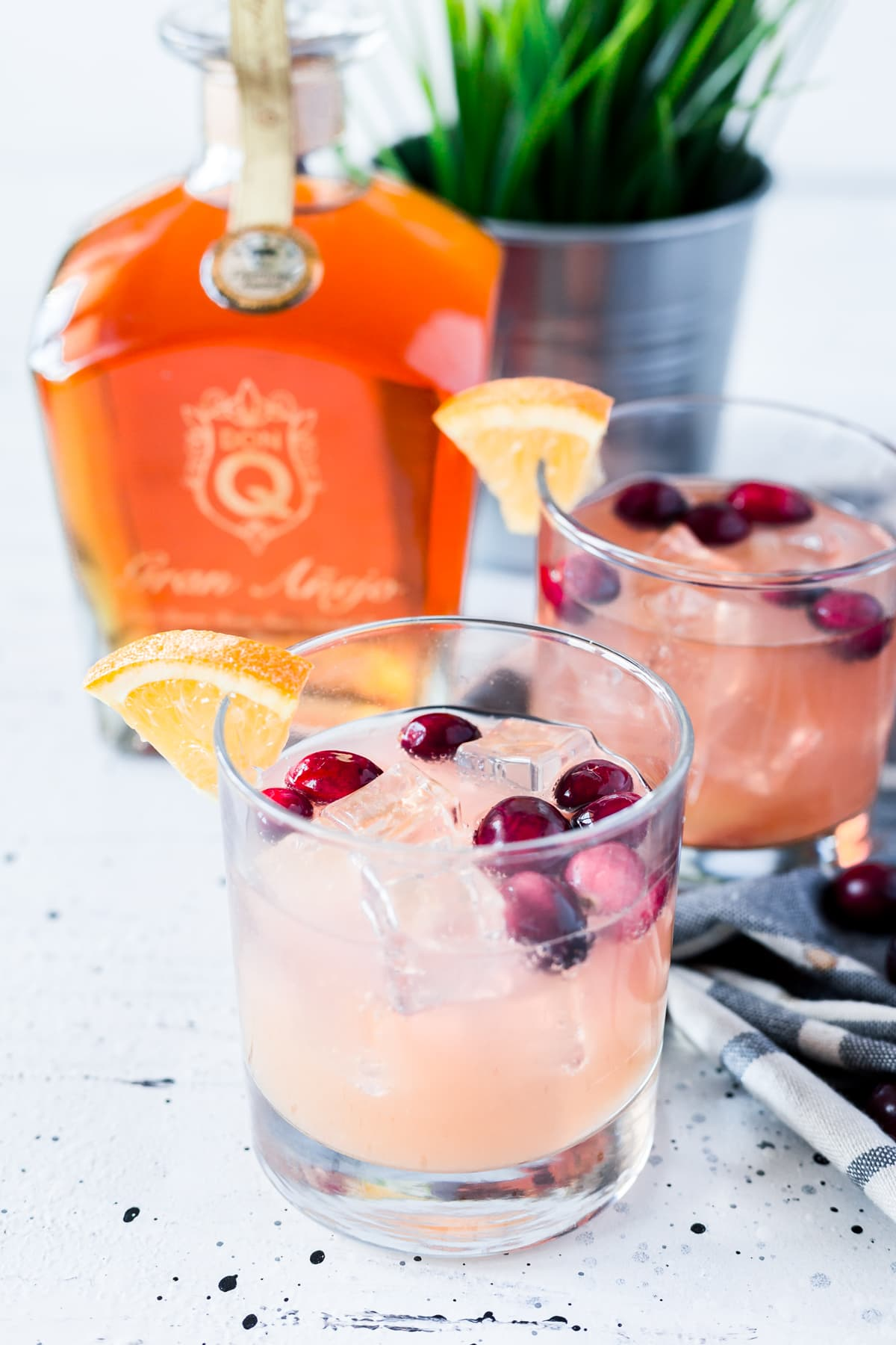 Rum Cocktail Idea - Cranberry Orange Rum Spritzer