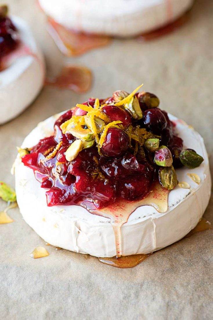 Cranberry and Pistachio Baked Brie