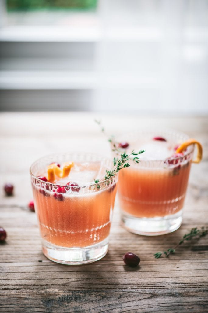 Cranberry Orange Whiskey Cocktail