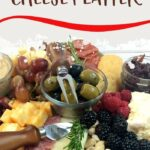 Cranberry Cheese Platter | Homemade Cheese Platter | How to Make a Cheese Platter | Ingredients for Wine and Cheese | What to make for Wine Night | #cheese #recipes #charcuterie #wine #platter