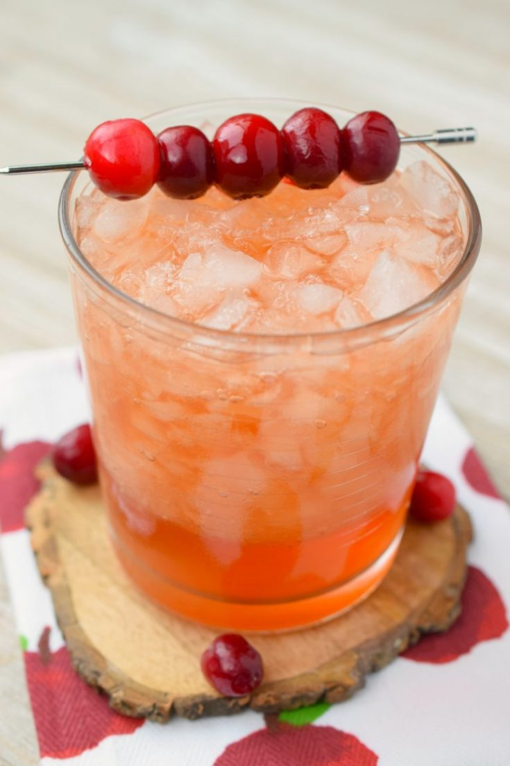 Cranberry Whiskey Apple Cider Cocktail