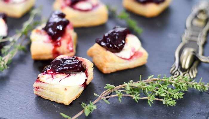 Goat Cheese and Cherry Appetizer Bites