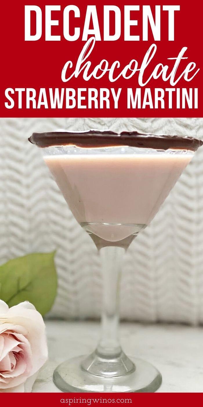 Decadent Chocolate Strawberry Martini Recipe