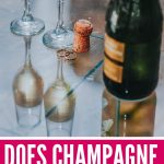 Does champagne go bad? We dive into the details so you can tell if you might be wasting precious bubbly by holding onto it for a special occasion! Find out how long you can keep champagne when it's unopened, so you can be poppin corks when you want. #champagne #bubbles #wineeducation