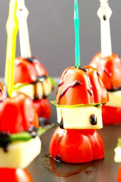 Caprese Salad Skewer Appetizer (gluten-free)