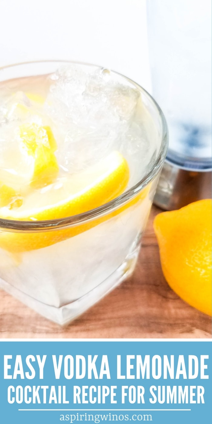 A Vodka Lemonade Cocktail is an easy backyard cocktail to sip on the patio |  Summer Drink | Vodka Cocktail | Best Vodka Cocktail | Easy Vodka Lemonade | Vodka Lemonade Recipe #cocktail #vodka #recipe #vodkalemonade