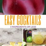 Easy Cocktails That Use 3 Ingredients or Less   3-ingredient Cocktails   Cocktails with Only 3-ingredients   Quick and Easy Cocktails   Simple Cocktails   Easy Cocktails   #cocktails #easycocktails #drinks
