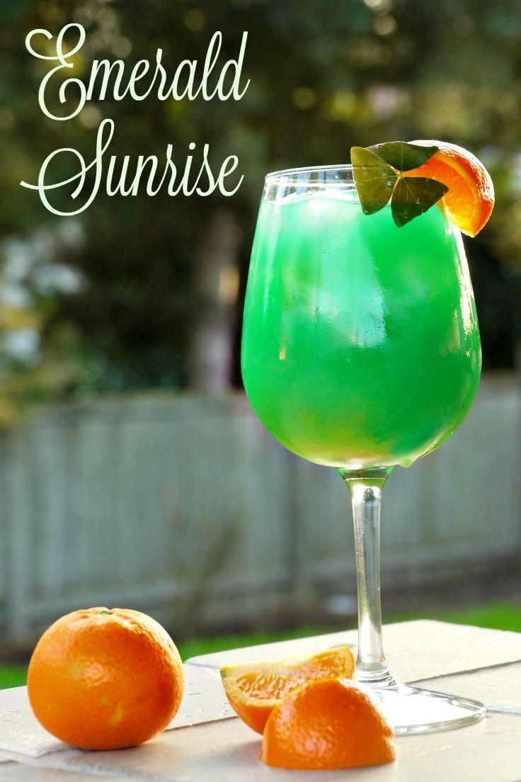 Green Cocktails To Celebrate St. Patrick's Day Without Beer - Emerald Sunrise