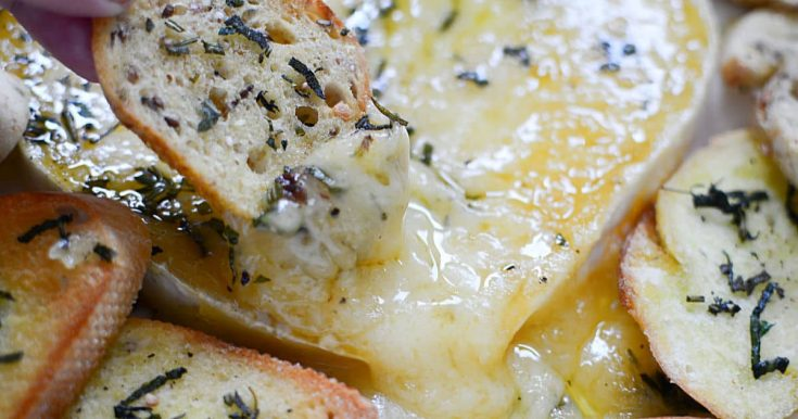 Baked Brie - Baked until melty and delicious!