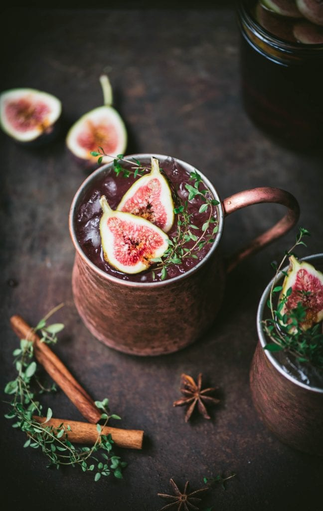 Fig Moscow Mule with Infused Vodka