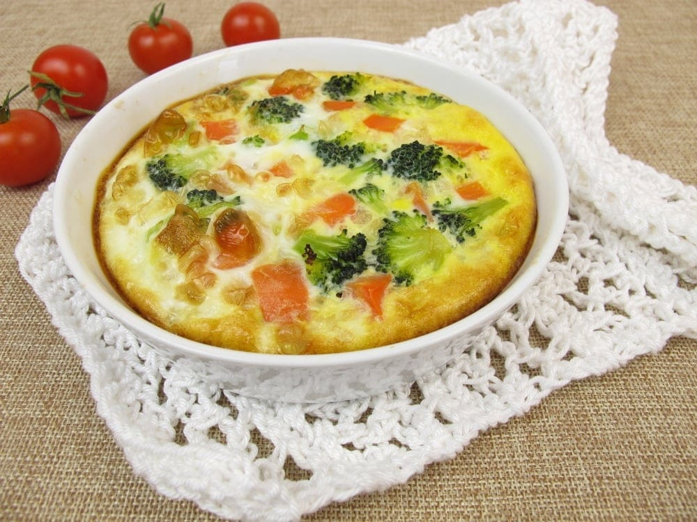 Flour less Air Fryer Broccoli Cheese Quiche