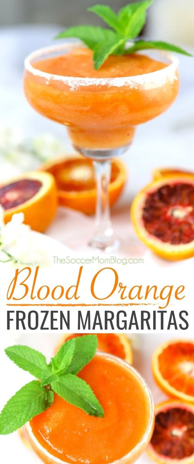 Blood Orange Frozen Margarita Slush