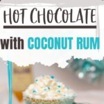 Frozen Hot Chocolate Cocktail   Coconut Rum Cocktail   White and Blue Cocktails   Blue Cocktails   Winter Cocktails   Hot Chocolate Cocktails   Warm Cocktails   #cocktail #hotchocolate #frozen #recipe #witner
