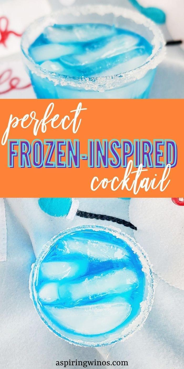 Blue Cocktail Recipe | Frozen Cocktail | Frozen Themed Cocktail | Disney Cocktail | Disney Cocktail Ideas | Blue Birthday Cocktails | #cocktail #blue #Disney #frozen #elsa