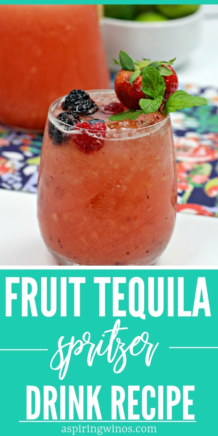 Fruit Tequila Spritzer for a Kickass Cocktail Party| Tequila Spritzer Recipe| Easy Tequila Spritzers| #tequila #spritzer #cocktail via @aspiringwinos