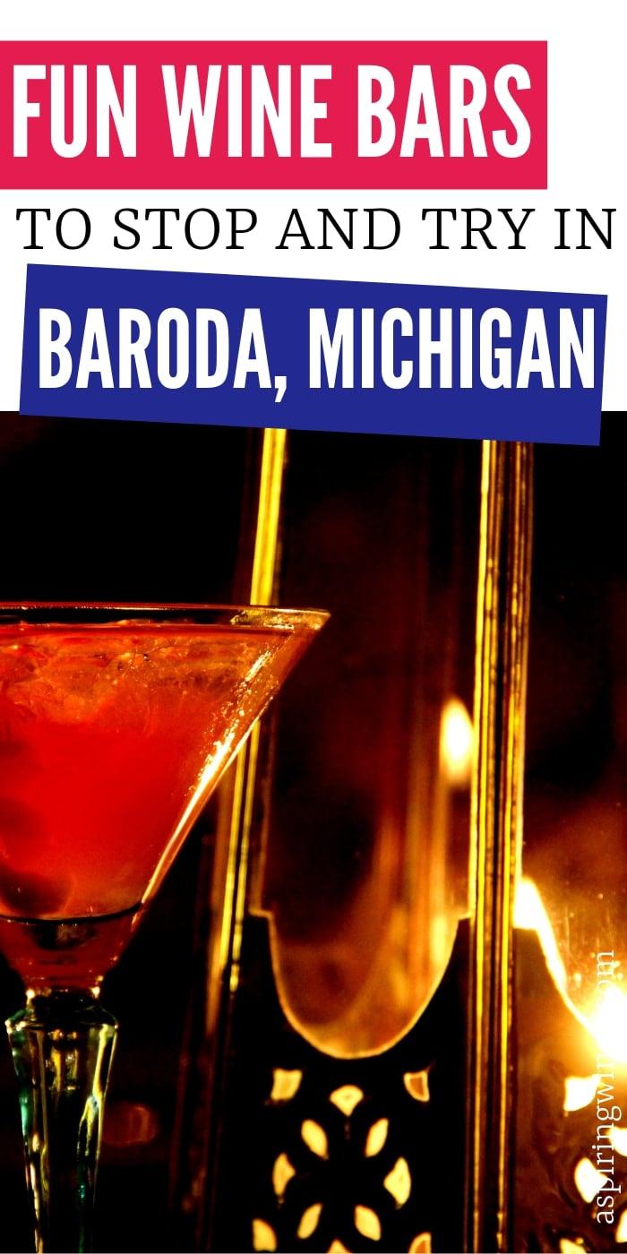 7 Fun Wine Bars to Try in Baroda, Michigan | Wine Bars in Michigan | Wine Tasting in Baroda, Michigan | Best Wine Bars to Try | Michigan Wine Trail | #winebars #wine #winetasting #Baroda #Michigan