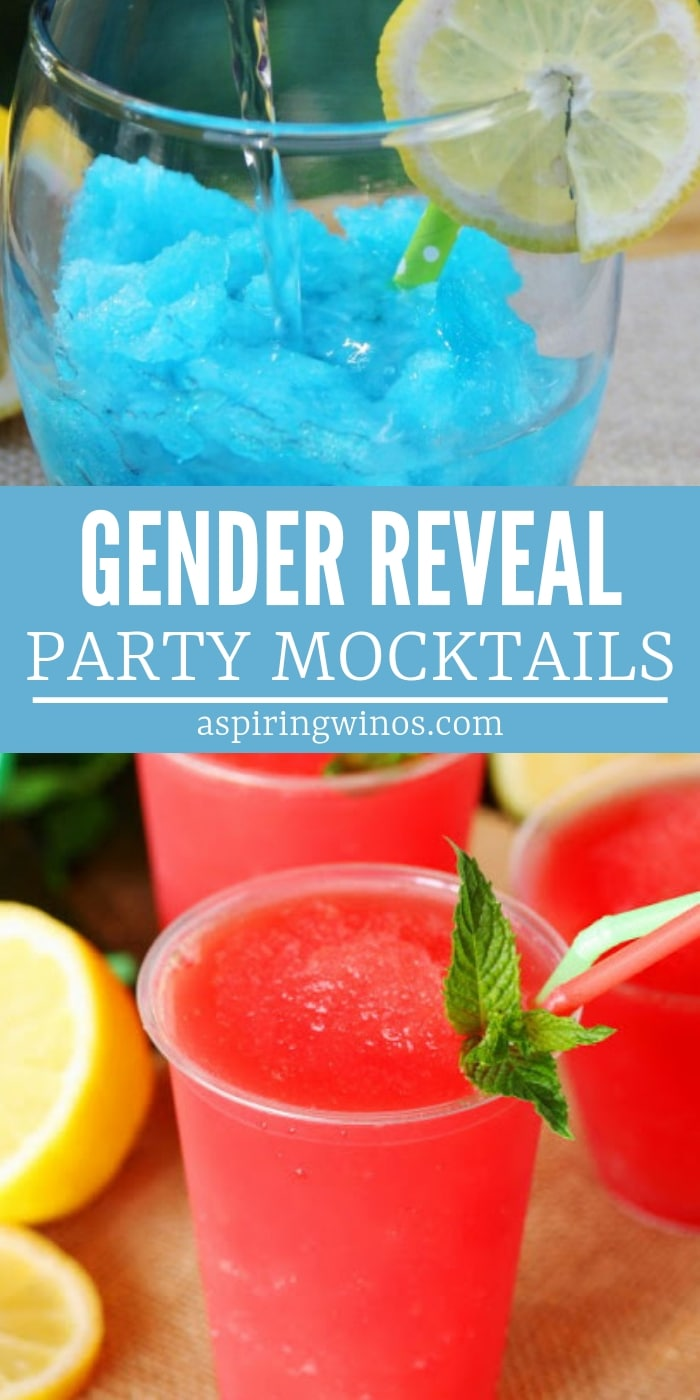 Planning a gender reveal party? Pick a virgin cocktail from this list of gender reveal mocktails to serve. There are tons of pink and blue drink recipes.   Team Pink and Team Blue   Fun Alcohol free and alcohol variation ideas for boys and girls. #genderreveal #recipes #mocktail