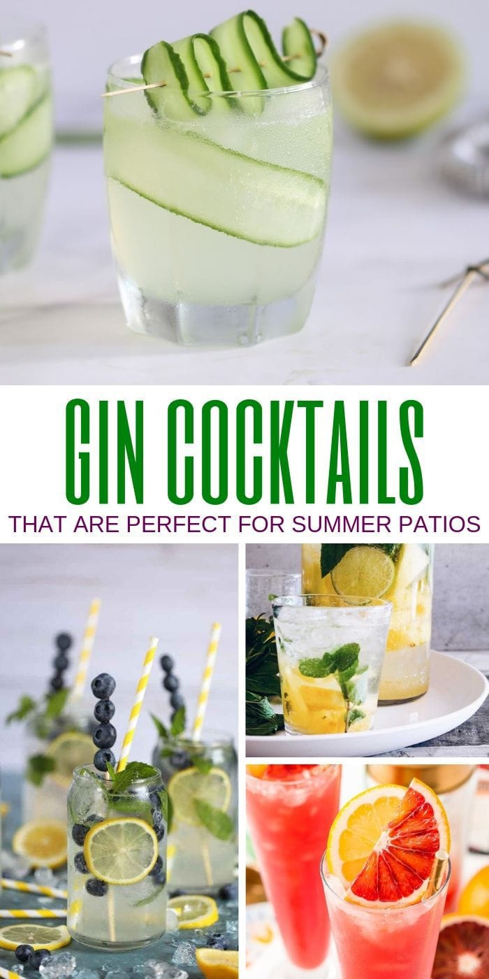 Gin Cocktails That are Perfect for Summer Patios | Gin Cocktails | Cocktails Made with Gin | Best Summer Cocktails | Summer Cocktails | Juniper Flavored Cocktails | #gin #cocktails #junipercocktails