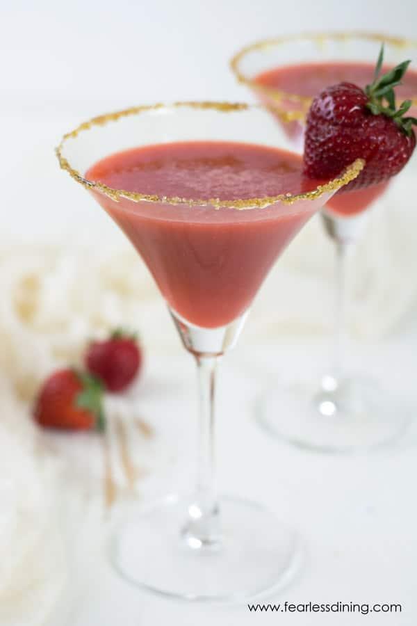 Honey Gin Strawberry Ginger Cocktail