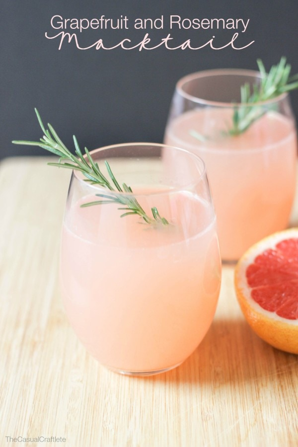 Virgin #Mocktails and Non-Alcoholic Cocktails | Grapefruit and Rosemary mocktail for summer drinks on the patio