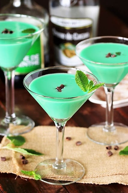 Green Cocktails To Celebrate St. Patrick's Day Without Beer - Grasshopper Cocktail