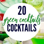 These amazing green cocktails to celebrate St. Patrick's Day will get you in the celebratory spirit, even if you can't drink beer! | Lots of choices, including rum, vodka, everclear and more. These recipes are easy and you can make them for a crowd. Add some fun color to your next St. Patrick's Day #stpatricksday #cocktails #drinks