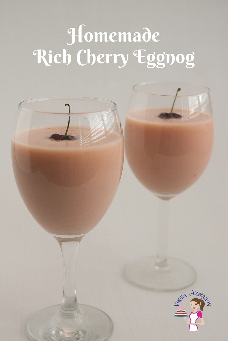 Homemade Rich Cherry Eggnog