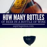 How many bottles of beer are in a bottle of wine? We tell you how big a standard bottle of beer is, how much alcohol it contains and how that compares to other beverages out there. #beer #wine #alcohol #servings #cans #bottles