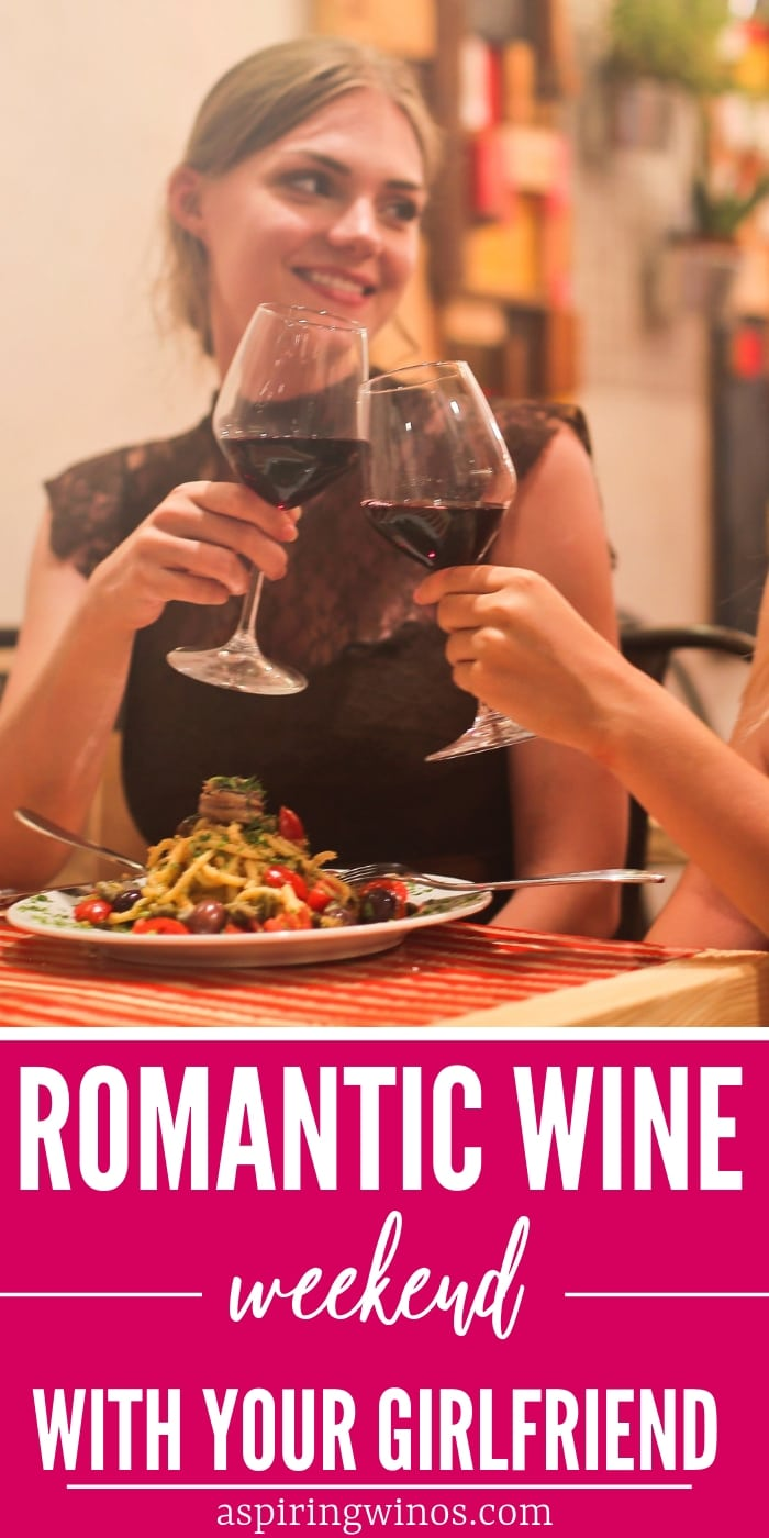Ready to sweep your girlfriend off her feet? Here is how to plan a romantic wine weekend with your girlfriend! We've got tips for romantic weekends away, or at home, including outfits to wear, what to look for when planning your trip, and where to focus for the wow factor. Enjoy! #wine #winetasting #winetravel #travel #romance #couples