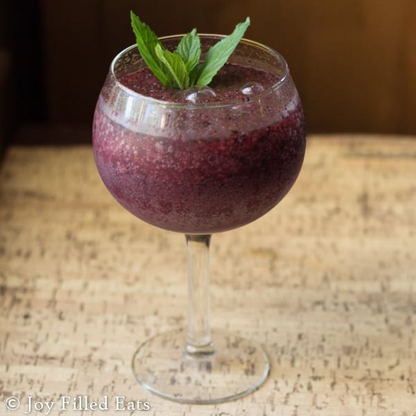 Frozen Blueberry Mojito - Low Carb & Sugar Free